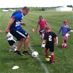 Soccer Clinic in Progress